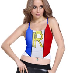 Semi-Official Shield of France Spaghetti Strap Bra Top