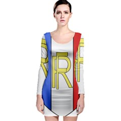 Semi-Official Shield of France Long Sleeve Bodycon Dress