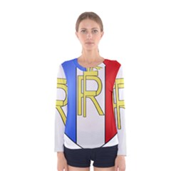 Semi-Official Shield of France Women s Long Sleeve Tee