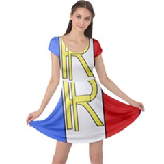 Semi-Official Shield of France Cap Sleeve Dresses