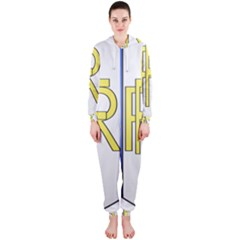 Semi-Official Shield of France Hooded Jumpsuit (Ladies)
