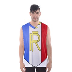 Semi-Official Shield of France Men s Basketball Tank Top