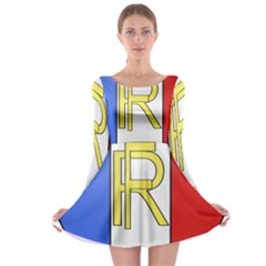 Semi-Official Shield of France Long Sleeve Skater Dress