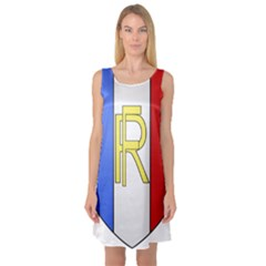 Semi-Official Shield of France Sleeveless Satin Nightdress