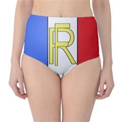 Semi-Official Shield of France High-Waist Bikini Bottoms