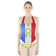Semi-Official Shield of France Halter Swimsuit