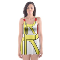 Semi-Official Shield of France Skater Dress Swimsuit
