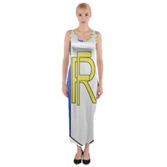 Semi-Official Shield of France Fitted Maxi Dress