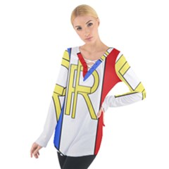 Semi-Official Shield of France Women s Tie Up Tee