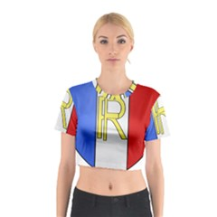 Semi-Official Shield of France Cotton Crop Top