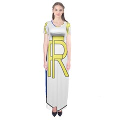 Semi-Official Shield of France Short Sleeve Maxi Dress