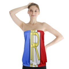 Semi-Official Shield of France Strapless Top