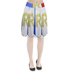 Semi-Official Shield of France Pleated Skirt
