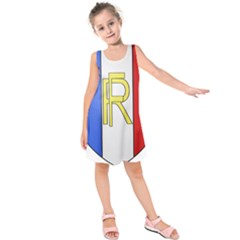 Semi-Official Shield of France Kids  Sleeveless Dress