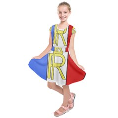 Semi-Official Shield of France Kids  Short Sleeve Dress