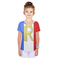 Semi-Official Shield of France Kids  One Piece Tee