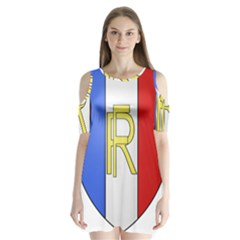 Semi-Official Shield of France Shoulder Cutout Velvet  One Piece