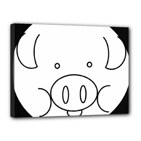 Pig Logo Canvas 16  X 12