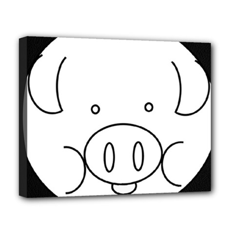 Pig Logo Deluxe Canvas 20  x 16
