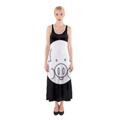 Pig Logo Sleeveless Maxi Dress
