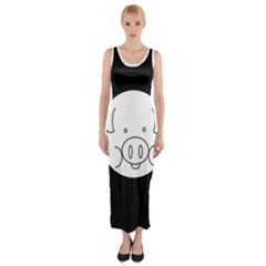 Pig Logo Fitted Maxi Dress