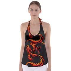 Dragon Babydoll Tankini Top