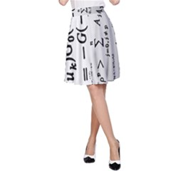 Science Formulas A-Line Skirt