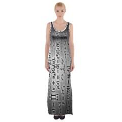 Science Formulas Maxi Thigh Split Dress