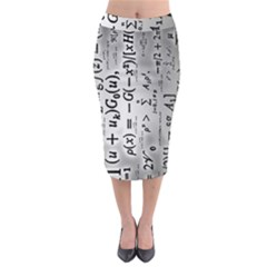 Science Formulas Midi Pencil Skirt