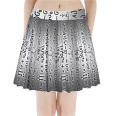 Science Formulas Pleated Mini Skirt