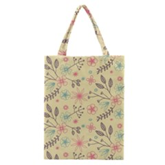 Seamless Spring Flowers Patterns Classic Tote Bag