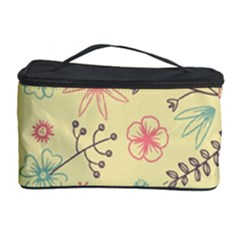 Seamless Spring Flowers Patterns Cosmetic Storage Case