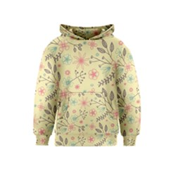 Seamless Spring Flowers Patterns Kids  Pullover Hoodie