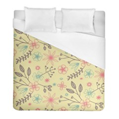 Seamless Spring Flowers Patterns Duvet Cover (Full/ Double Size)