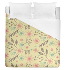 Seamless Spring Flowers Patterns Duvet Cover (Queen Size)