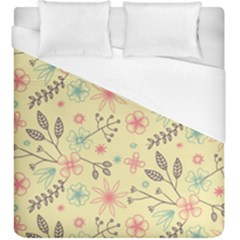 Seamless Spring Flowers Patterns Duvet Cover (King Size)