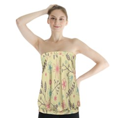 Seamless Spring Flowers Patterns Strapless Top