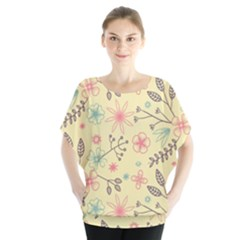 Seamless Spring Flowers Patterns Blouse