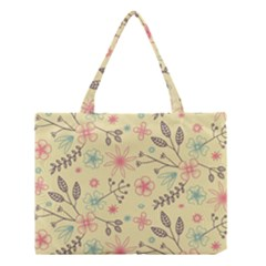 Seamless Spring Flowers Patterns Medium Tote Bag