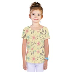 Seamless Spring Flowers Patterns Kids  One Piece Tee
