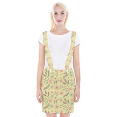 Seamless Spring Flowers Patterns Suspender Skirt