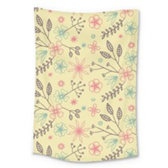 Seamless Spring Flowers Patterns Large Tapestry