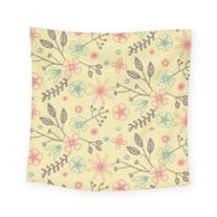 Seamless Spring Flowers Patterns Square Tapestry (small)