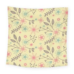 Seamless Spring Flowers Patterns Square Tapestry (large)