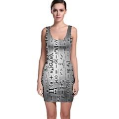 Science Formulas Sleeveless Bodycon Dress