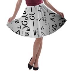 Science Formulas A Line Skater Skirt