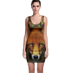 Fox Sleeveless Bodycon Dress