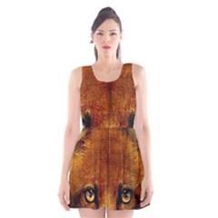 Fox Scoop Neck Skater Dress