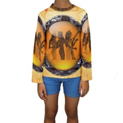 Maps Egypt Kids  Long Sleeve Swimwear