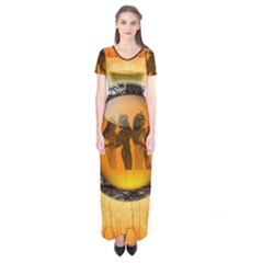 Maps Egypt Short Sleeve Maxi Dress
